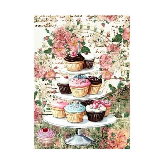 Papel De Arroz CUP CAKES & ROSAS