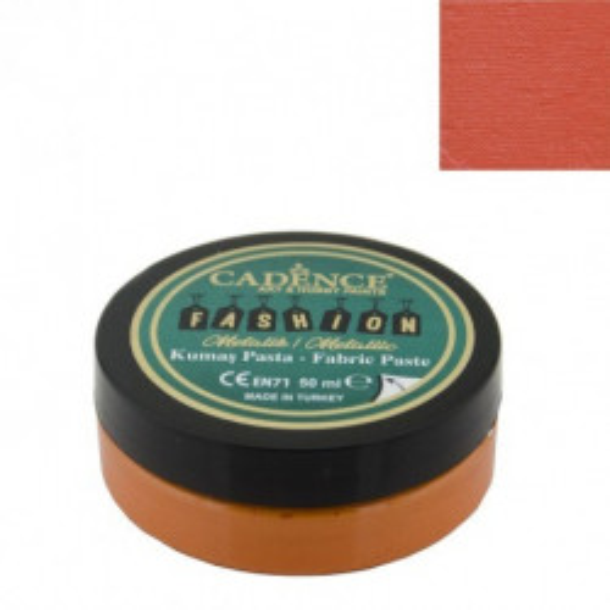 Pasta Textil FASHION METALLIC - Naranja