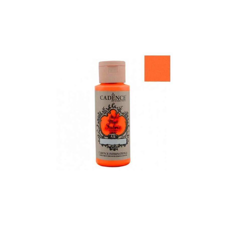 STYLE MATT FABRIC - Naranja Fluorescente