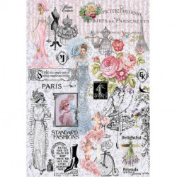 Papel de arroz paris fashion