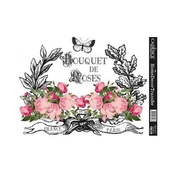 Transfers HOME DECOR Bouquet De Roses.
