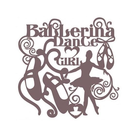 Stencil Shadow bailarina 25 x 30 cm