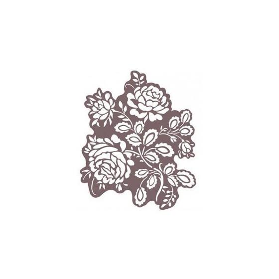 Stencil Shadow rosas 25 x 30 cm