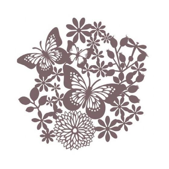 Stencil Shadow mariposas