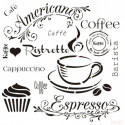 Stencil Café 45x45cm
