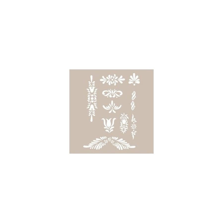 Stencil APLIQUES FLORALES