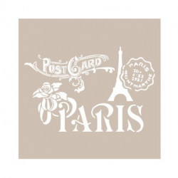 Stencil PARIS POSTCARD