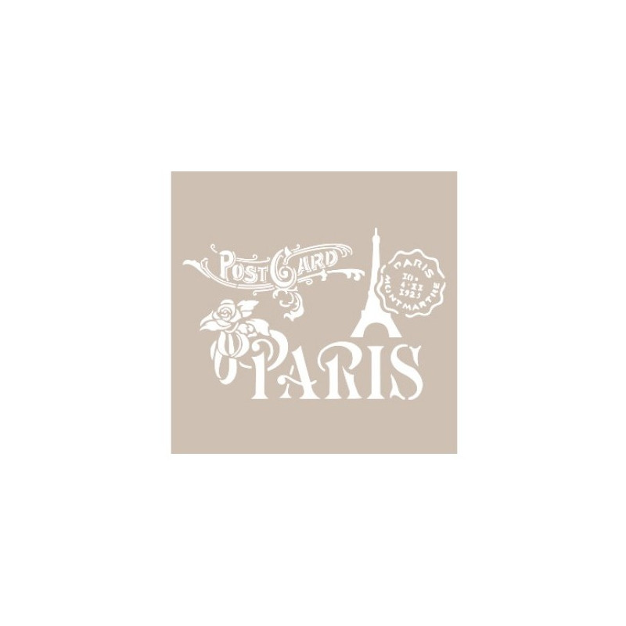 Stencil PARIS POSTCARD