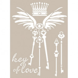 Stencil KEY OF LOVE