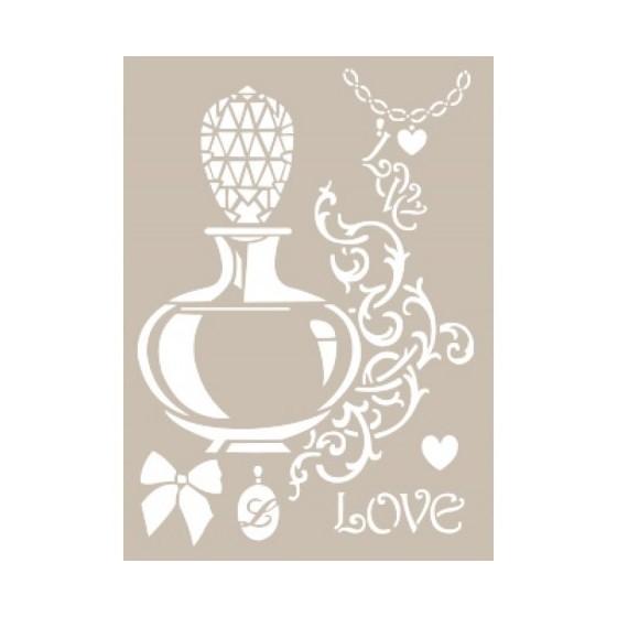 Stencil PERFUME LOVE