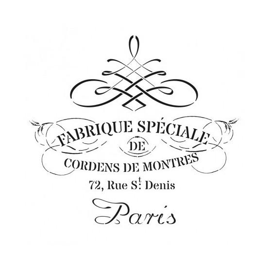 Stencil FABRIQUE SPECIALE 45x45cm