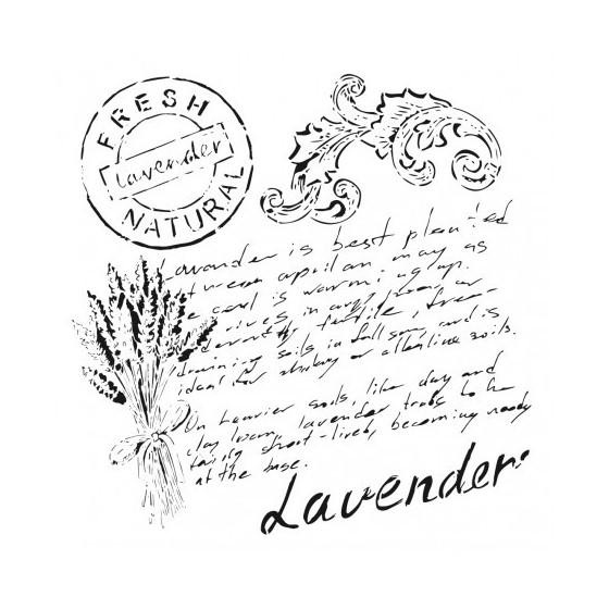 Stencil TEXTO LAVENDER 45x45cm
