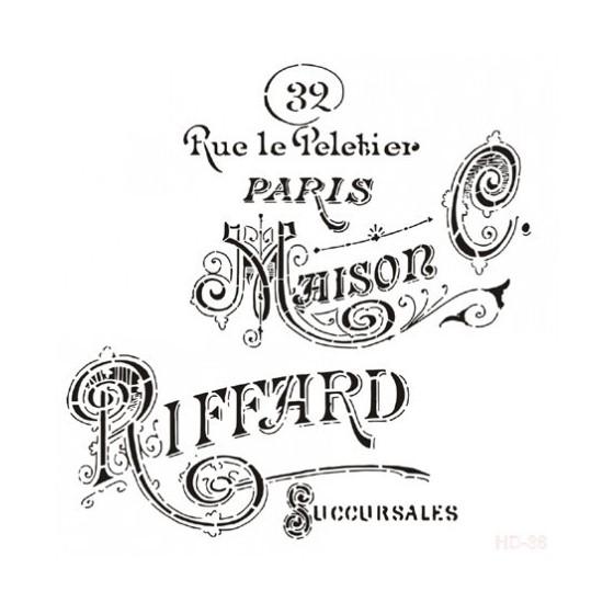 Stencil MAISON RIFFARD 45x45cm