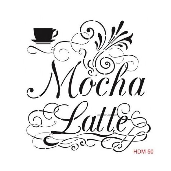Stencil MOCHA LATTE 25x25cm