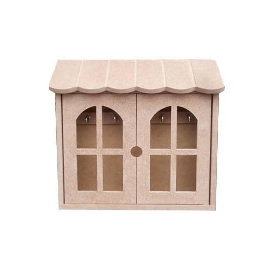 Casita porta llaves fabricada en madera de DM