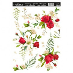 Transfer TELA Flowers 25x35