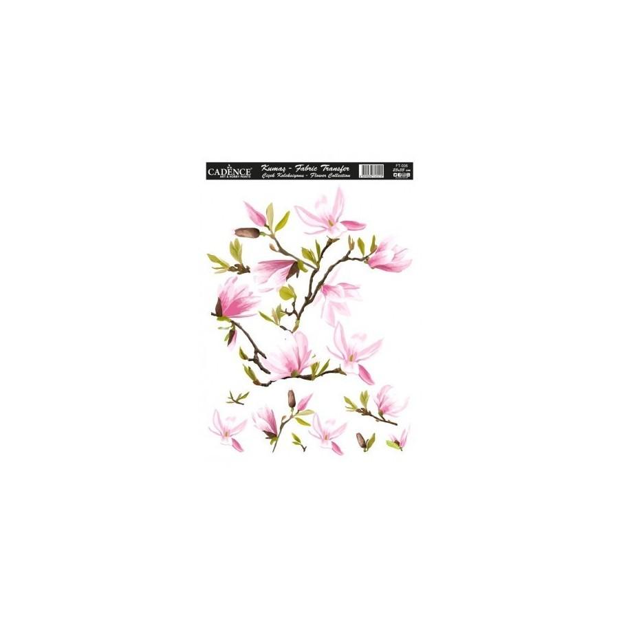 Transfer TELA Flowers 25x35