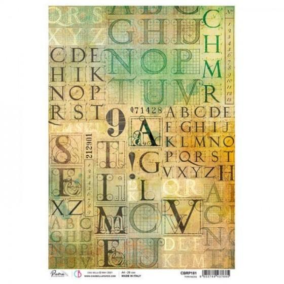 Papel de arroz  A4 Typefaces