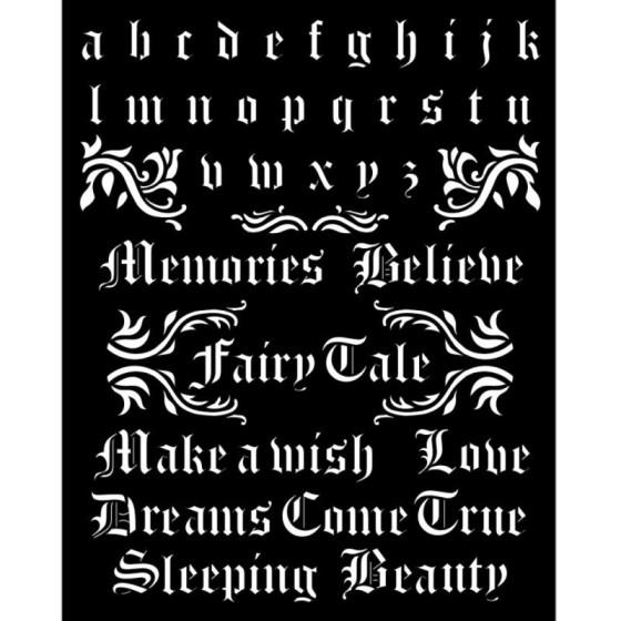 Stencil Stamperia Sleeping...