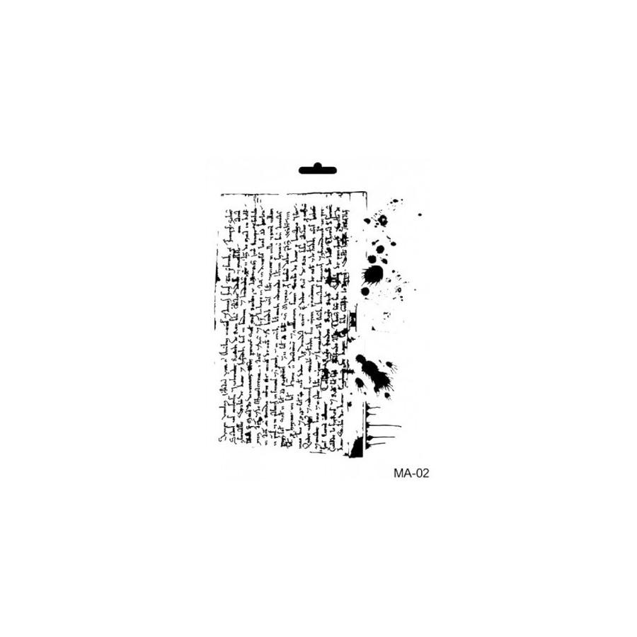 Stencil Mix Media PERGAMINO MANCHADO