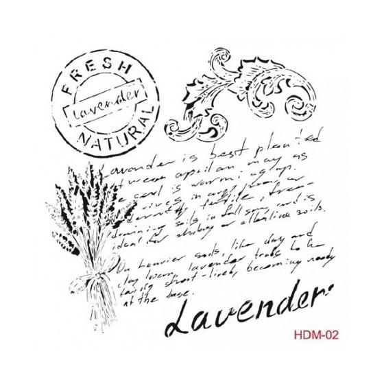 Stencil TEXTO LAVENDER 25x25cm