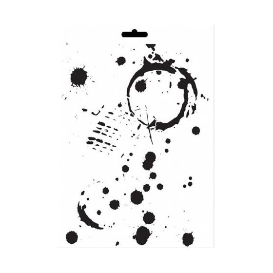 Stencil Mix Media MANCHAS VASO GRANDE