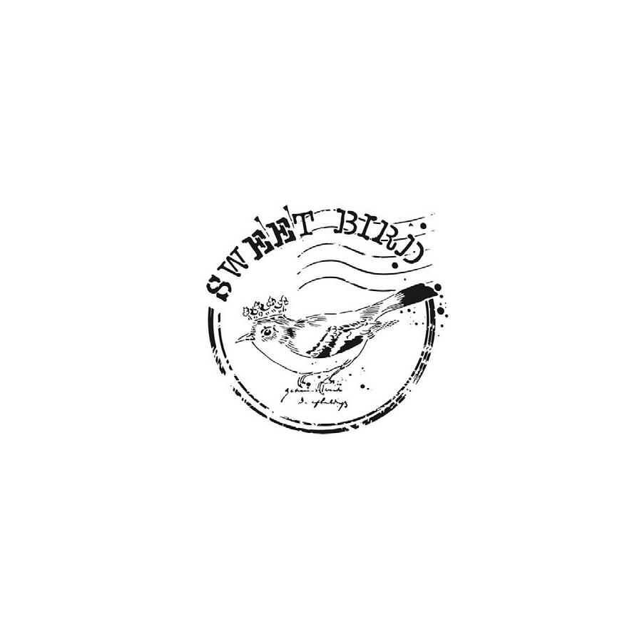 Stencil SWEET BIRD 25x25cm