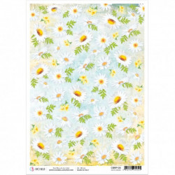 Rice Paper A4 White Daisies