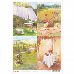 Rice Paper A4 Tuscan Cards