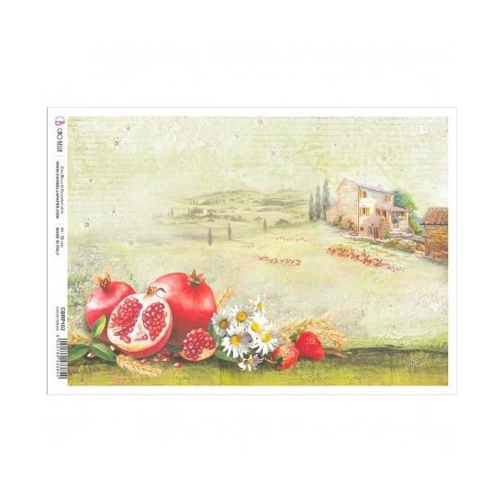 Rice Paper A4 Tuscan Dream