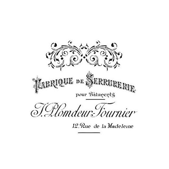 Stencil FABRIQUE DE SERRURERIE 25x25cm