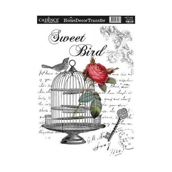 Transfers HOME DECOR Sweet Bird.