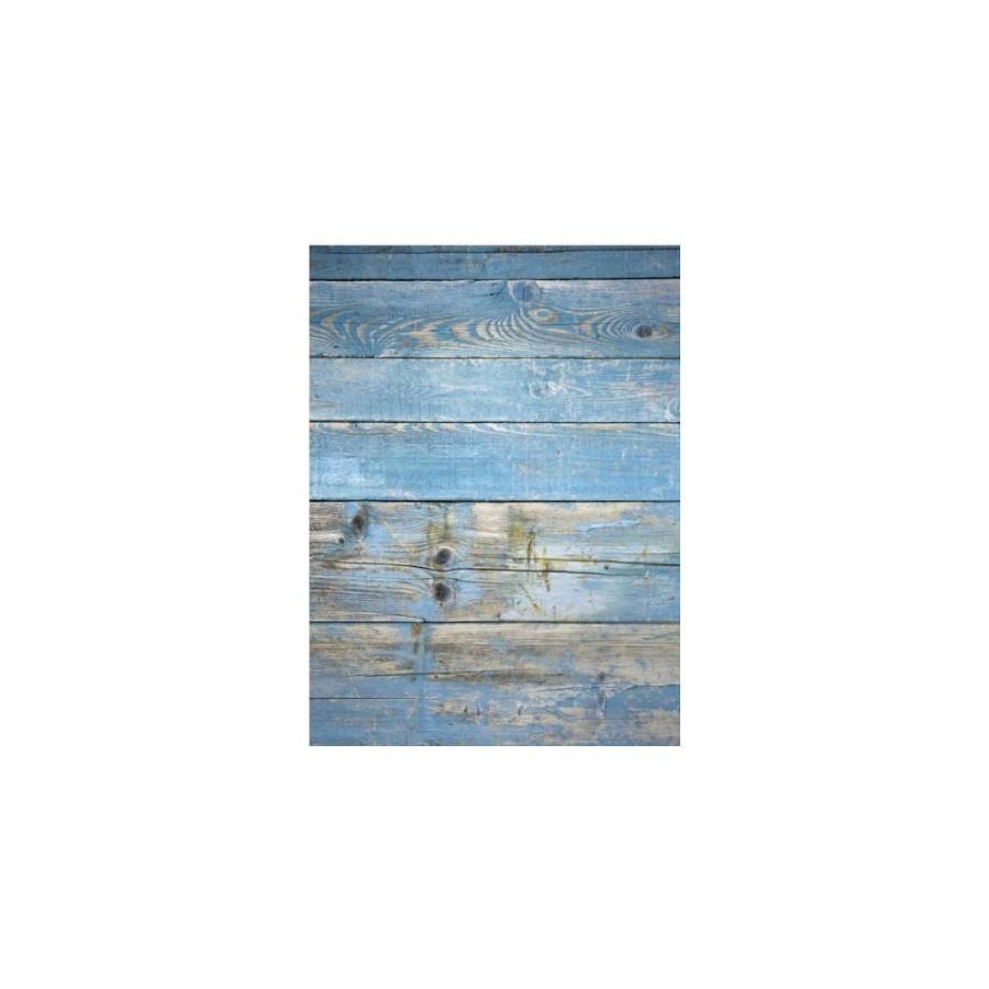 Papel de arroz madera azul