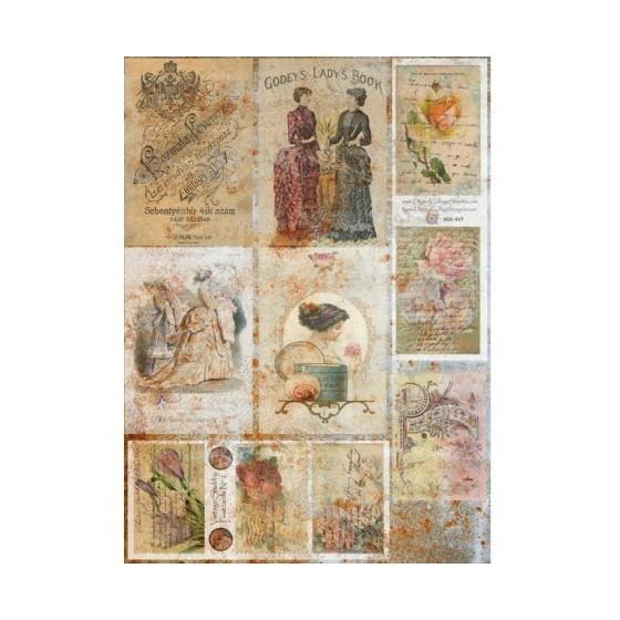 Papel de arroz postales antiguas