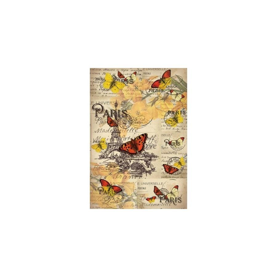Papel de arroz mariposas en paris