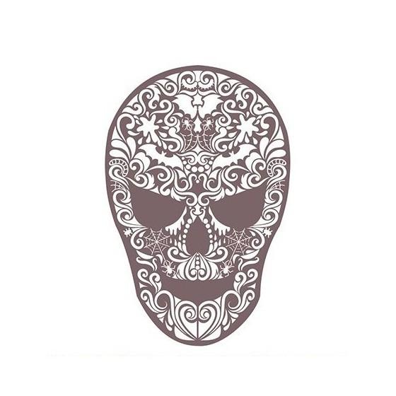Stencil Shadow calavera