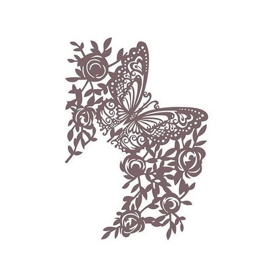 Stencil Shadow mariposa grande