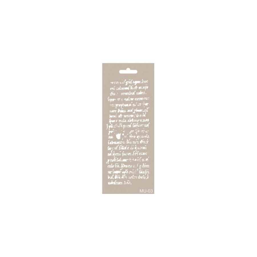 Stencil Mix Media Texto antiguo2 10 x 25cm