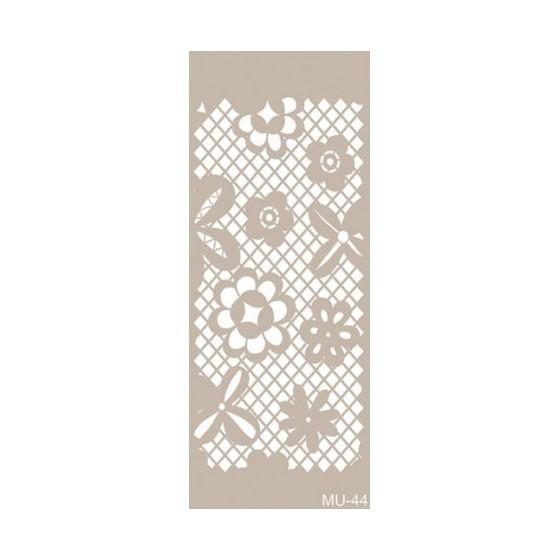 Stencil Mix Media Encaje flores