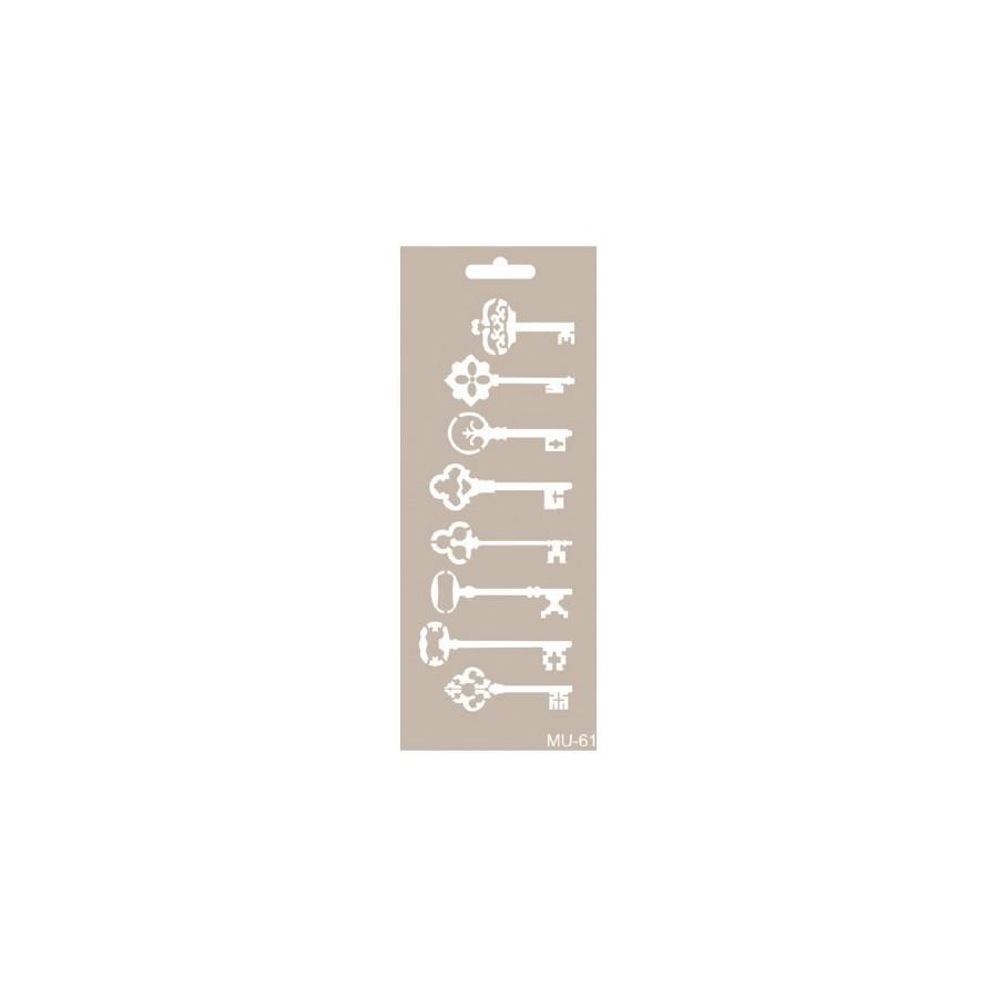 Stencil Mix Media Llaves 10 x 25cm
