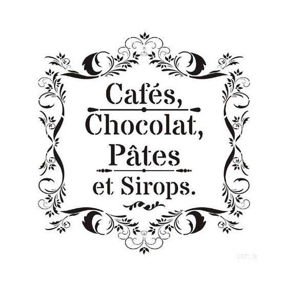 Stencil Chocolat 45x45cm