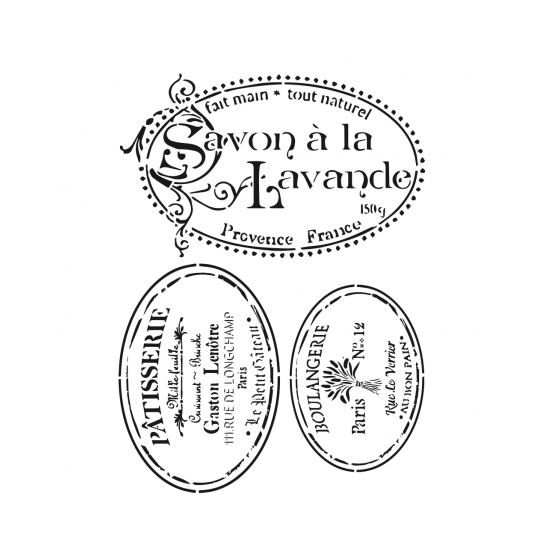 Stencil SAVON A LA LAVANDE...
