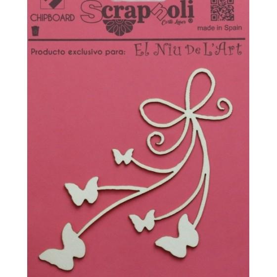 Chipboard Lazo con Mariposa C6