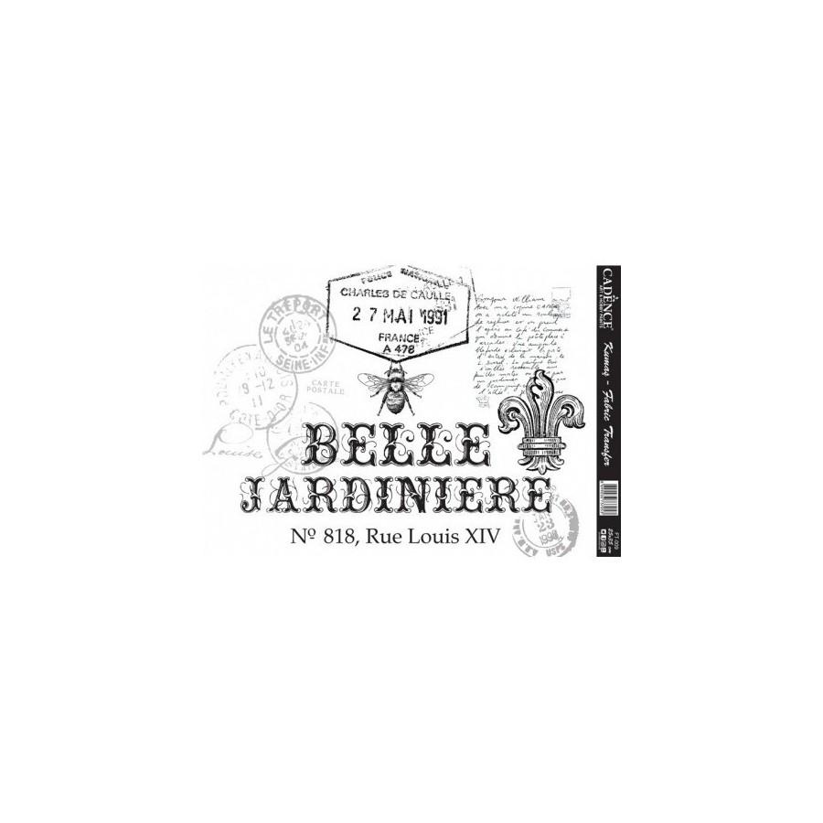 Transfer para tejidos Belle Jardiniere