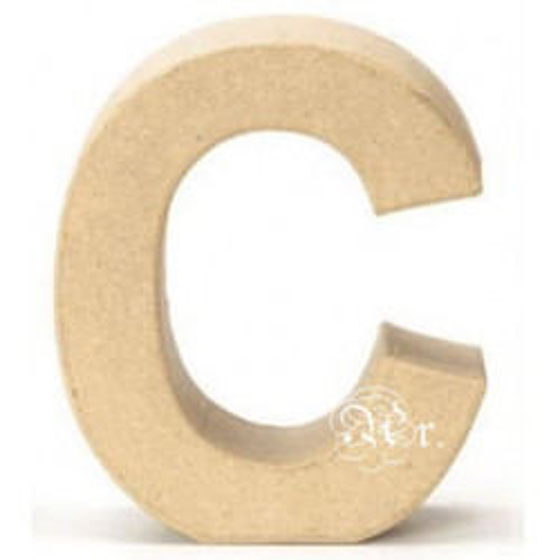 Papel Mache Letra C