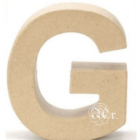 Papel Mache Letra G