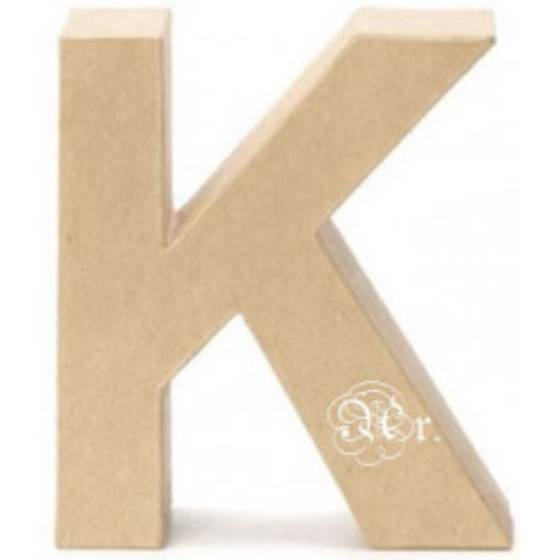 Papel Mache Letra K