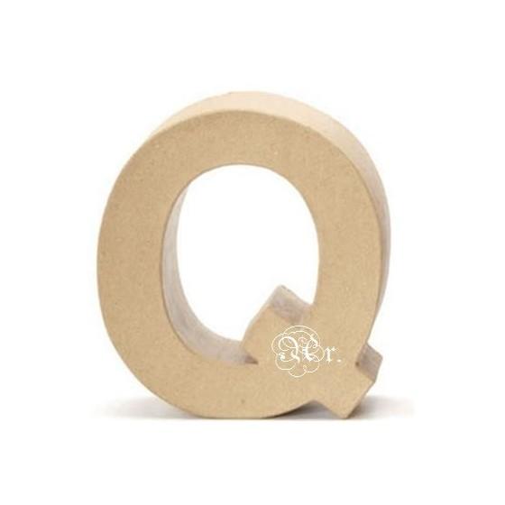 Papel Mache Letra Q
