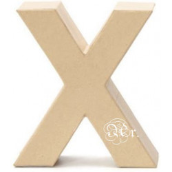 Papel Mache Letra X