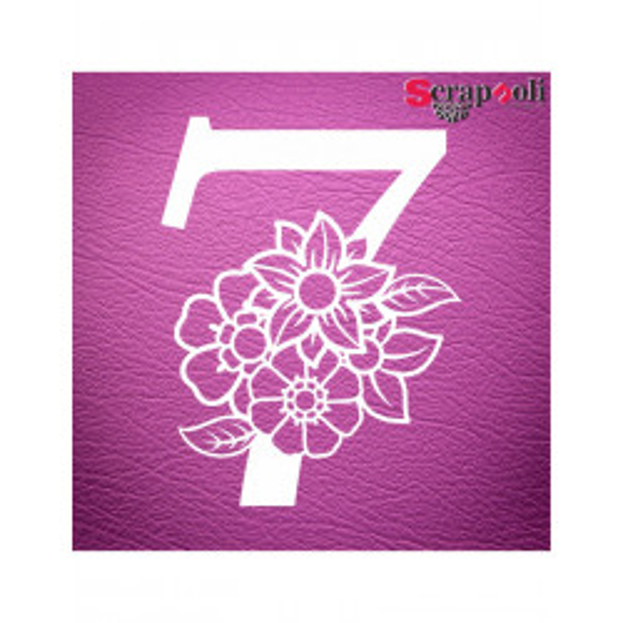 Chipboard Numero Floral C1-7